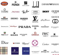 Rich and Famous Lifestyle: Luxury Brands Best Way to Show Your Riches Famous Clothing Brands, Luxury Clothing Brands, Clothing Brand Logos, Luxury Fashion Brands, Logo Branding, Luxury Branding, Branding Design, 3d Logo, Corporate Branding