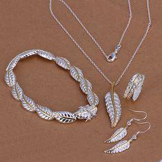 637cb90949af Alta calidad 925 estampado de plata enchapado conjunto joyería