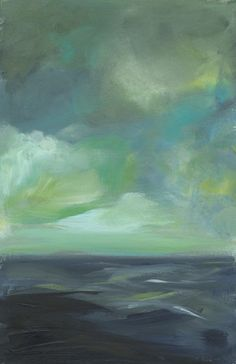 """Seascape Art-""""Sea in Blue and Green"""" Abstract Landscape, Landscape Paintings, Abstract Art, Illustrations, Illustration Art, Art Texture, Seascape Art, Art Watercolor, All Nature"""