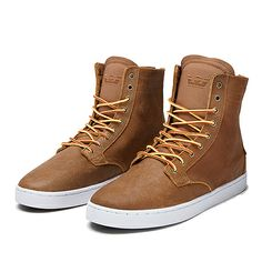 SUPRA WOLF | BROWN-WHITE | Official SUPRA Footwear Site