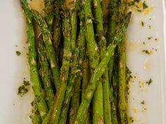 Roasted Asparagus with Orange Glaze via Dinner at Tiffani's