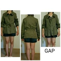 Gap Jacket in Green Perfect condition  No stain or rip  Like new  100 % cotton shell  100 % cotton  lining GAP Jackets & Coats Utility Jackets