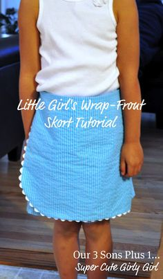 Transform Shorts into a Little Girl's Wrap-Front Skort Tutorial