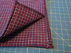 How To Hand Sew A Pocket Square (With Rolled Edges & Everything) - a perfect use for retired dress shirts