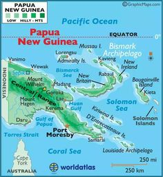 Map of Papua New Guinea - Papua New Guinea Map, Geography of Papua New Guinea Map Information Pacific Map, South Pacific, Pacific Ocean, Maluku Islands, Days For Girls, Surf, World View, Thinking Day, Geography