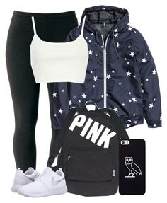 """""""✌✌✌"""" by gxldenqueen ❤ liked on Polyvore featuring Joe Browns, H&M, River Island, Victoria's Secret, October's Very Own and NIKE"""