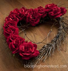 Blooming Homestead: Valentine Wreath DIY