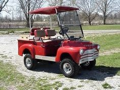 Old Chevy Truck Golf Cart ! Me and the hubby are looking for a golf cart to take when we camp. Station Wagon, Golf Cart Bodies, Custom Golf Carts, Golf Cart Accessories, Golf Fashion, Go Kart, Ladies Golf, Golf Tips, Golf Ball