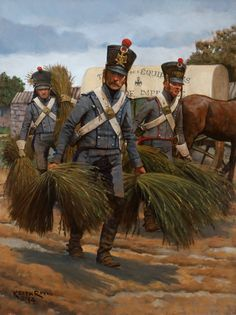 French; Imperial Guard, Train d'Equipages. Art by Kieth Rocco.