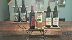 Counter Top Reclaimed Barn Wood & Steel Modern Six Bottle Rack/Shelf/Wine Rack/Kitchen Shelf/Kitchen Organizer on Etsy, $250.00