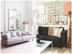 inrichten kamer, kleine kamer, woonkamer inrichten, spiegels Der Plan, Sofa, Couch, Furniture, Home Decor, Living Room Mirrors, Settee, Settee, Decoration Home