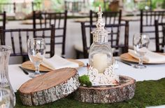 #Wedding #centerpiece for an outdoor wedding at Hawkesdene House.