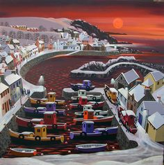 Port Patrick by Irish Contemporary Artist George CALLAGHAN