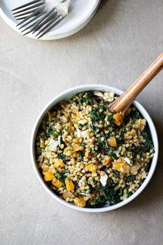 Kale Farro Salad Recipe For Winter + Summer