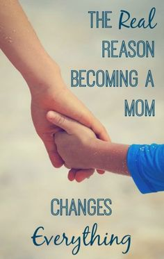 Becoming a mom changes EVERYTHING, and this just may be the reason why.