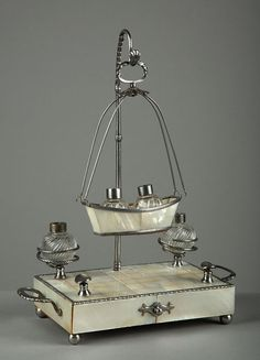 Perfume stand. Material: Mother of pearl. Circa 1840.