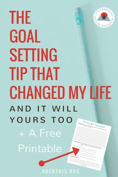 There are so many different goal setting tips, but it's hard to find one that actually works. This is a great new way to set goals that increases productivity as well gives meaning to your everyday talks. Bonus: it even has a planning worksheet.