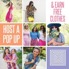 Host a pop up! Free clothes! Click for more info.