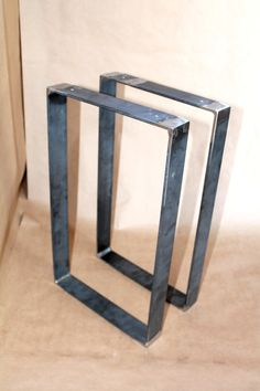 ONE PAIR of Hand Forged Iron Modern Industrial Frame by VinTin $115 + $50 shipping, custom order