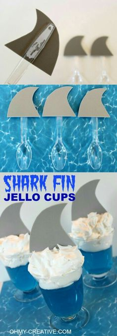 Shark fin jello cup