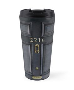 Sherlock Holmes 221b Black door Travel Mugs #mugs #travelmugs #tardisdoctorwho #davidtennant #vangogh #police #publiccallbox #glass #tardis #doctorwho #timemachine #sherlockholmes #door221b