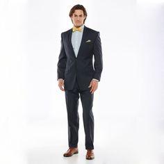 Chaps Classic-Fit Navy Wool-Blend Stretch Suit Separates - Men