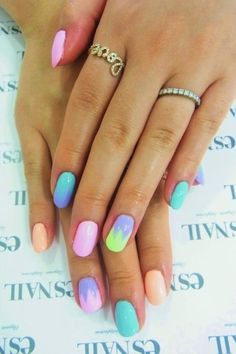 #colourful #nails