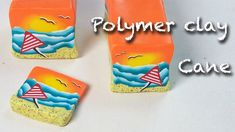 Diy, how to make seascape cane - polymer clay necklace tutorial