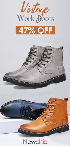 4f8d1268c378 Men s Vintage Classic Metal Eyelets High Top Lace Up Work Boots is  fashionable