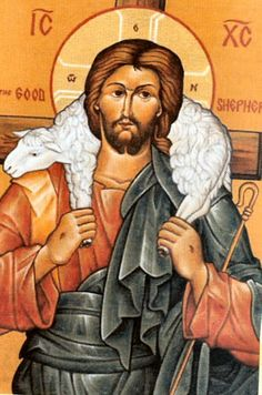 The Good Shepherd icon Jesus Is Lord, Jesus Christ, King Jesus, Religious Icons, Religious Art, Jesus Shepherd, Christian Images, Christian Music, The Lost Sheep