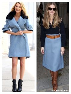 Winter Pastels: Baby Blue Coat and Skirt