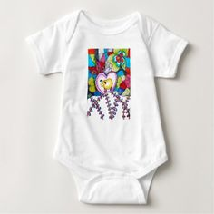 Love sheep baby baby bodysuit - red gifts color style cyo diy personalize unique
