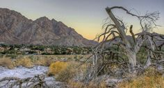 Sunset in La Quinta  California.   Taken in the La Quinta cove.  Some of the best mountains in the desert are out here.
