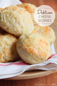 Dubliner cheese scones from The Baker Upstairs. Light and tender, savory and delicious! www.thebakerupstairs.com