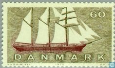 Stamps - Denmark - Shipping. 1970