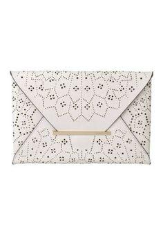 BCBGMAXAZRIA Harlow Lazer-Cut Envelope Clutch - Spring 2013 Handbag Trends - ELLE