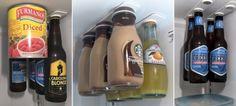 不占空间的好收纳!冰箱用磁性收纳条:BottleLoft