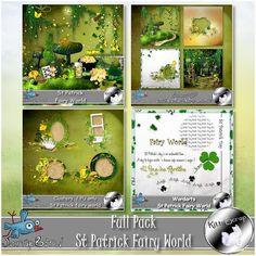 Bundle St Patrick Fairy World by kittyscrap