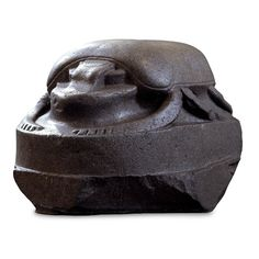 Giant sculpture of a scarab beetle, Istanbul, modern Turkey, Egyptian, perhaps Ptolemaic period, 332-30 BC – This green diorite sculpture, at around one & a half metres long, is one of the largest representations known. It would presumably have originally stood in a temple. It is said to be Ptolemaic (305-30 BC), & may have been taken to Constantinople (modern Istanbul), when Constantinople was the capital of the later Roman Empire (from AD 330).