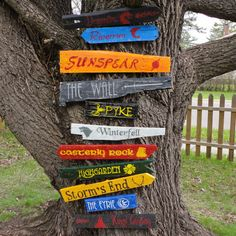 Seven Kingdoms of Westeros Directional Sign Full Collection  - Game of Thrones 11 Signs on Etsy, $175.00