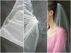 This tutorial walks you through the steps to make a simple, raw-edge bridal veil with a comb. Its very easy to customize! (how to make a bridal veil)
