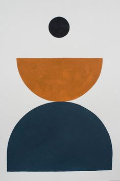Bobby Clark — Shape Study 11 navy and rust colour design graphic collage Illustration Arte, Illustrations, Palette Pastel, Modern Art, Contemporary Art, Art Abstrait, Geometric Art, Geometric Patterns, Art Inspo