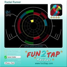 Radial Runner - Challenging Puzzler Tests Your Coordination. Full review at: http://fun2tap.com/index.cfm#id2445 --------------------------------------------- #apps #iosApps #iPad #iPhone #games