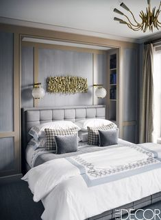 Sleek Alcove Bed- ELLEDecor.com