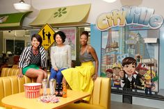 Zynga's in-office candy shop; pictured Jet, Adela, and Bim
