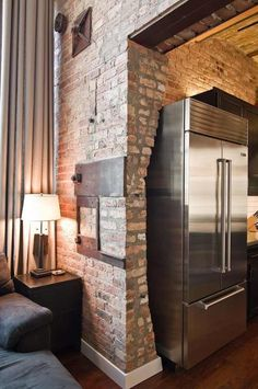 living west loop loft besch design 6 Striking Chicago Loft Artistically Displaying the Owners Guitar Collection