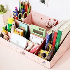 Shinzi Katoh Pink Alice illustraion desk tidy