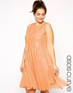 e290a55c535b33 ASOS CURVE Mesh   Sequin Skater Dress at asos.com