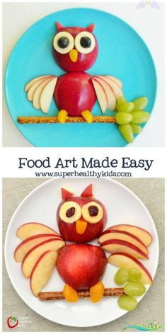 The one thing you need to make food art easy for your kids!  <br> A recent article reported that picky eaters become more accepting of new foods, when they are given the opportunity to play with their food! Easy Food Art, Cute Food Art, Amazing Food Art, Creative Food Art, Food Art For Kids, Food Kids, Easy Art, Food For Children, Fruit Art Kids