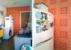 Antes e Depois Minha Cozinha Com Papel de Parede  